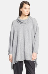 Eskandar Cowl Neck Cashmere Sweater Stone Grey