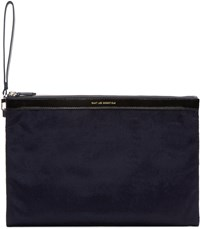 Want Les Essentiels Navy Barajas Document Holder