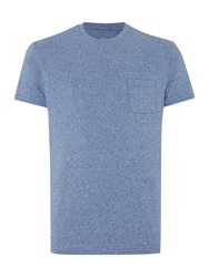 Linea Austin Short Sleeve Crew Neck Pocket T Shirt Blue
