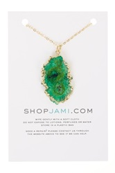 Jami Green Geode Dipped Necklace