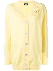Boutique Moschino Bow Detail Cardigan Yellow