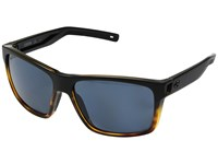 Costa Slack Tide Matte Black Tortoise Frame Gray 580P Sport Sunglasses Blue