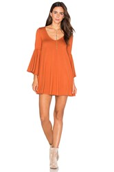 Rachel Pally Flutter Sleeve Mini Dress Rust