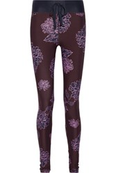 The Upside Confetti Printed Stretch Leggings Plum