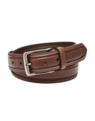Fossil Wyatt Leather Belt Brown