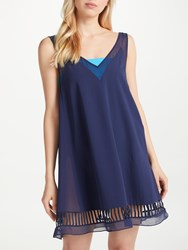 Ted Baker Rosaay Mesh Detail Tunic Cover Up Navy