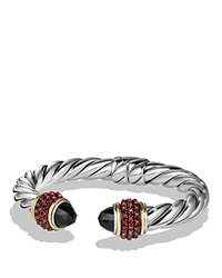 David Yurman Bracelet With Black Onyx Garnet And 18K Gold Black Red
