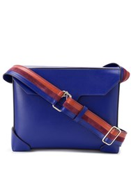 Manu Atelier Bold Cross Body Bag Blue
