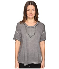 The Kooples Wave Dyeing Jersey And Chain Short Sleeve Tee Grey
