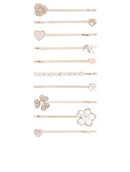 Accessorize 10X Flower And Pearl Hair Grip Pack