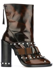N 21 No21 Studded Buckle Boots Brown