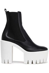Stella Mccartney Faux Leather Platform Ankle Boots Black