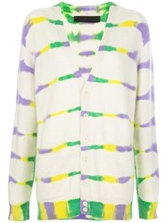 The Elder Statesman Tie Dye Long Cardigan 60