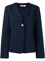 Jil Sander One Button Blazer Blue