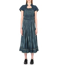 Junya Watanabe Pleated Denim Dress Indigo