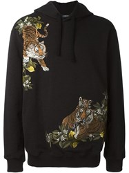 Dolce And Gabbana Tiger Hoodie Grey