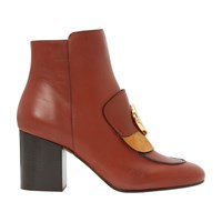Chloe C Ankle Boots Sepia Brown