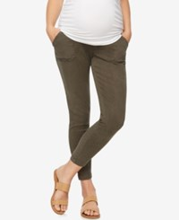 A Pea In The Pod Maternity Twill Skinny Leg Pants Olive
