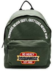 Dsquared2 No Mercy Backpack Green