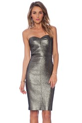 Trina Turk Volare Dress Metallic Bronze