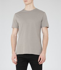 Reiss Bless Mens Crew Neck T Shirt In Brown