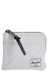 Herschel Men's Supply Co. 'Johnny' Half Zip Wallet Grey Lunar Rock Quilted