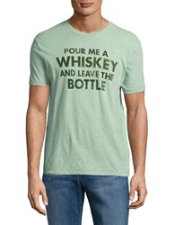 Lucky Brand Whiskey Text Graphic Tee Green