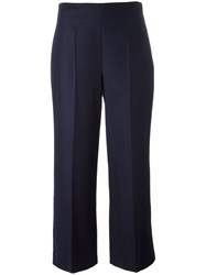 Harmony Paris Cropped Tailored Trousers Blue