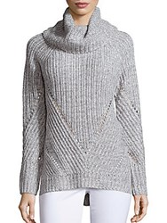 Calvin Klein Jeans Long Sleeve Turtleneck Pullover Alloy