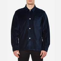 Our Legacy Men's Velvet Box Shirt Navy Blue