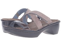 Naot Footwear Quito Stone Nubuck Shiitake Patent Leather Women's Shoes Gray
