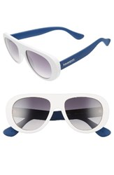Havaianas Women's Rio 54Mm Gradient Lenses Aviator Sunglasses White Blue White Blue