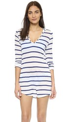 Splendid Hamptons Hooded Tunic Navy