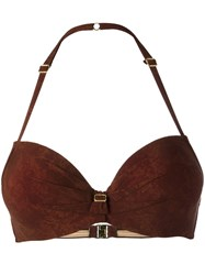 Marlies Dekkers Puritsu Push Up Bikini Top Brown
