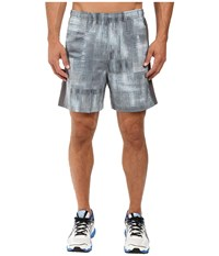 Asics 2 N 1 Woven 6 Shorts Grey Linear Blur Men's Shorts Gray