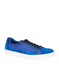 Car Shoe Suede And Nylon Tennis Sneaker Blue