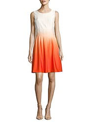 Calvin Klein Fit And Flare Ombre Dress Tarts Ombre