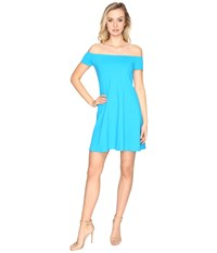 Susana Monaco Abigail Dress Turquoise Women's Dress Blue