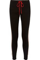 Chinti And Parker Jalisco Striped Cashmere Wool Blend Track Pants Black