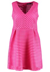 Missguided Plus Summer Dress Magenta Neon Pink