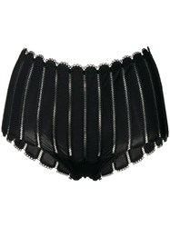 Parah Kim Embroidered French Knickers Black