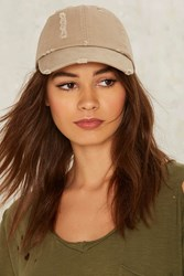 Robyn Distressed Baseball Cap Brown
