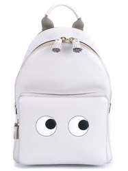 Anya Hindmarch Mini Eyes Leather Backpack Grey