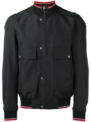 Christian Dior Homme Four Pocket Bomber Jacket With Ribbed Collar Black