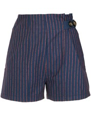 Lilly Sarti Striped Shorts Cotton