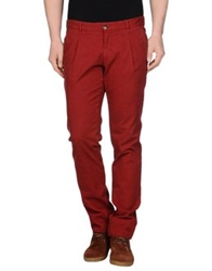 One Seven Two Casual Pants Maroon