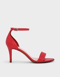 Charles And Keith Ankle Strap Heels Red
