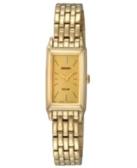 Seiko Watch Women's Solar Gold Tone Stainless Steel Bracelet 15Mm Sup030