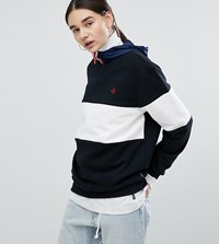 Converse Cons Skate Sweatshirt In Black And White