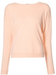 Allude Round Neck Jumper White